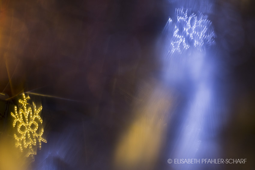 Foto Schneekristall abstrakt Weihnachtszeit