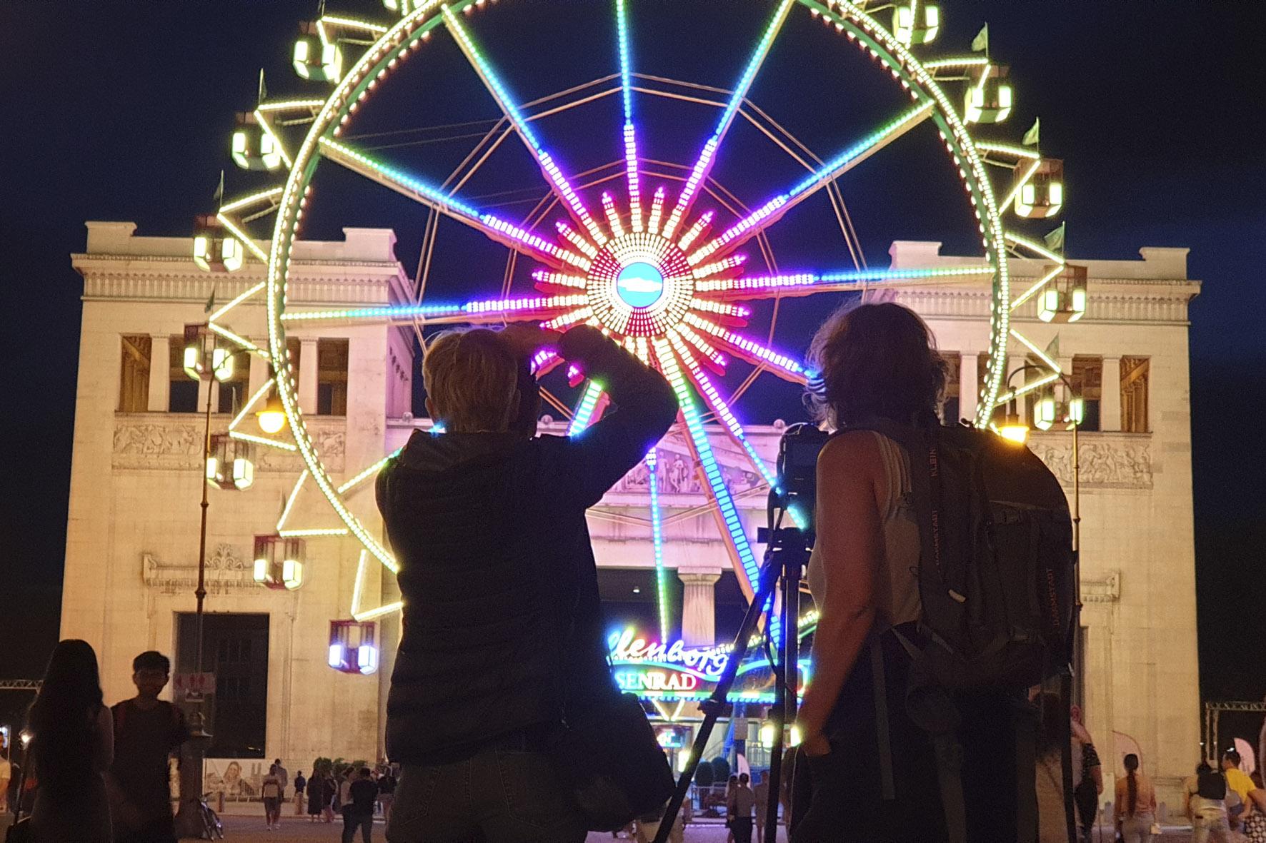 Foto Riesenrad bei Nacht